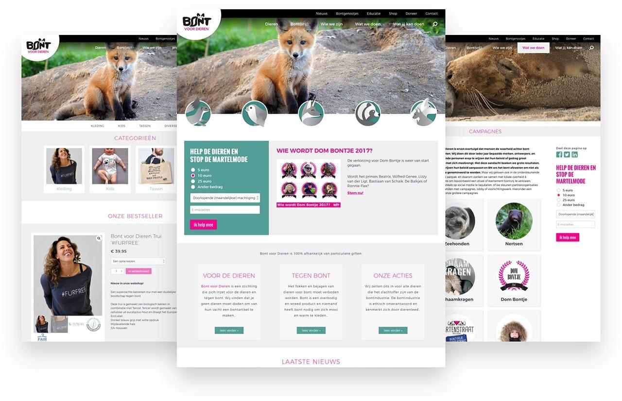Website Bont voor Dieren